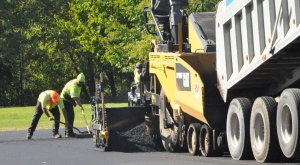 Image of paving contractor